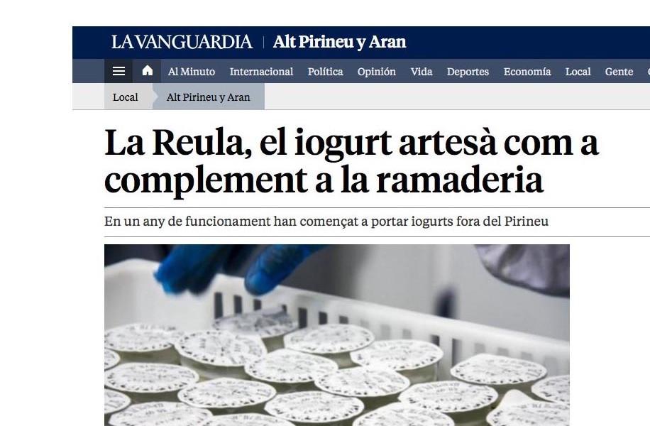 Els nous reptes de la Reula <br>a La Vanguardia.